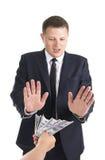 Le paiement illicite Images libres de droits