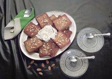 Le pain a basé le dessert de l'Inde de Hyderabad photo libre de droits