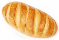 Le pain blanc a isolé Images libres de droits