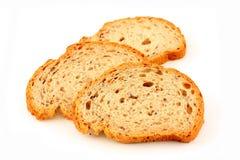 le pain découpe traditionnel en tranches Images libres de droits