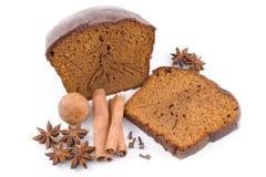 Le pain d'épice, miel-durcissent avec des épices images libres de droits