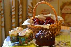 le pain durcit la tradition décorative de Pâques Photographie stock