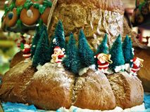 Le pain a fait Noël Decolation dans le restaurant image stock