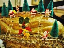 Le pain a fait Noël Decolation dans le restaurant photographie stock libre de droits