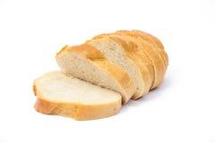 le pain a isolé découpé en tranches Images stock