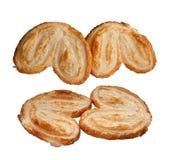 Le pain a posé avec des cristaux de sucre. Image libre de droits