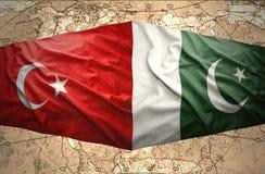 Le Pakistan et la Turquie Photographie stock libre de droits