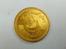 Le Pakistan RS pièce de monnaie 10 d'isolement sur le fond blanc image libre de droits
