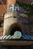 Le Palace Hotel sur la rue de Raadhuspladsen au Danemark photos libres de droits