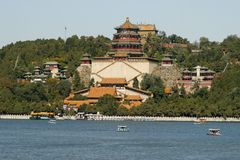 Le palais d'été à Pékin Images libres de droits