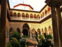 Le palais d'Alcazar en Séville Espagne image stock