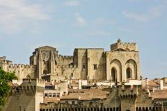 Le palais d'Avignon des papes Photo libre de droits