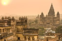 Le palais d'Orchha. Photos stock