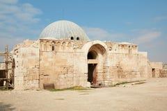 Le palais d'Umayyad à Amman, Jordanie Images libres de droits