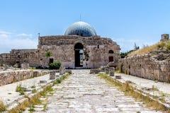 Le palais d'Umayyad, dans la citadelle d'Amman, la Jordanie Photos stock