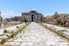 Le palais d'Umayyad, dans la citadelle d'Amman, la Jordanie Image stock