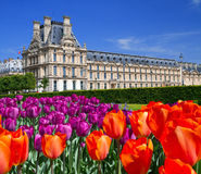 Le palais dans le jardin du luxembourgeois Images libres de droits