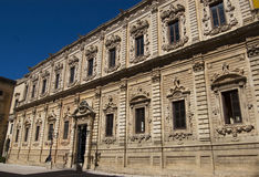 Le palais de Celestines, Lecce, Apulia, Italie Image stock