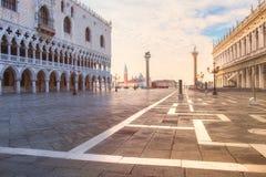 Le palais de Duks sur le St marque la place, Venise Italie Images stock