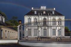 Le palais de Falkenlust, Bruhl, Allemagne Photos stock