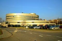 Le palais de forum de ville de Vilnius à l'automne chronomètrent le 11 novembre 2014 Photographie stock libre de droits