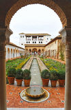 Le palais de Generalife, Grenade, Espagne Photo stock