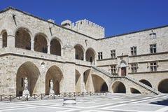 Le palais de maître grand dans Rhodos photographie stock libre de droits