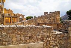 Le palais de Minoan, Crète Images libres de droits