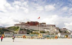 Le palais de Potala au Thibet Photo libre de droits