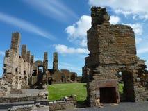 Le palais de Robert de comte dans Birsay Images stock