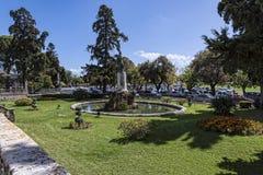 Le palais de St Michael et de St George dans la ville de Corfou sur la l'île grecque de Corfou images stock
