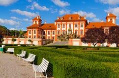 Le palais de Troja est un palais baroque situé dans Troja, République Tchèque de la ville du nord-ouest de Prague image libre de droits
