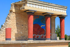 Le palais des knossos photo stock