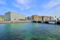 Le palais du congrès de Kursaal chez San Sebastian Photographie stock libre de droits