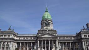 Le palais du congrès national argentin banque de vidéos
