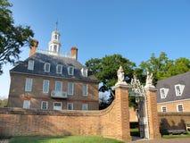 Le palais du Gouverneur, Williamsburg Photo libre de droits