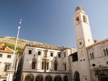 Le palais du Lector au crépuscule - Dubrovnik, Croatie Photographie stock