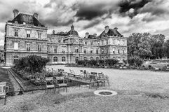 Palais du Luxembourg in Paris. Le Palais du Luxembourg in winter with cloudy sky in Paris, France stock photography