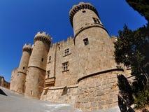 Le palais du maître en Rhodes Images libres de droits