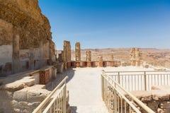 Le palais du nord dans Masada Image stock