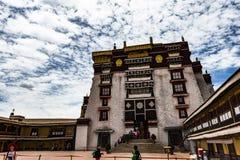 Le Palais du Potala à Lhasa, Thibet Images libres de droits