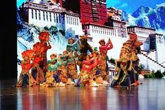 Le Palais du Potala avant le célébration-grand  de show†de scénarios d'échelle le  de legend†de route Photos stock