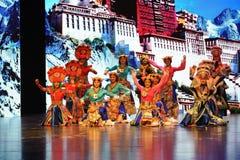 Le Palais du Potala avant le célébration-grand  de show†de scénarios d'échelle le  de legend†de route Image stock