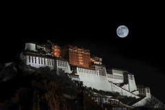 Le Palais du Potala du clair de lune Photographie stock