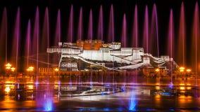 Le Palais du Potala majestueux images libres de droits