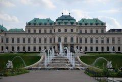 Le palais et les fontaines de belvédère photos libres de droits