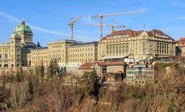 Le palais fédéral des bâtiments de Bellevue de la Suisse et de l'hôtel dans soit photos stock