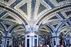 Le palais intérieur Isola Bella Italy de Crotto Borromeo photo stock