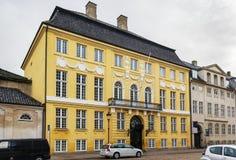Le palais jaune, Copenhague images libres de droits