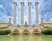 Le palais national dans Montjuic, Barcelone, Espagne Photo stock